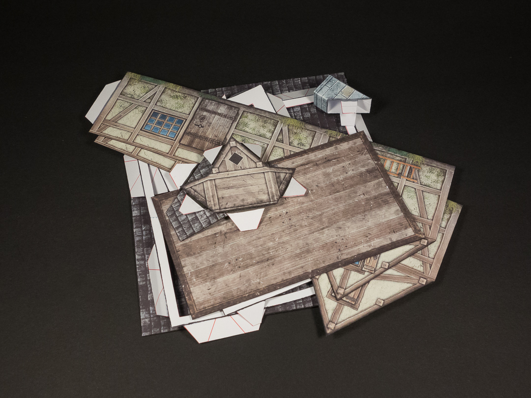 Fold-Flat build disassembled