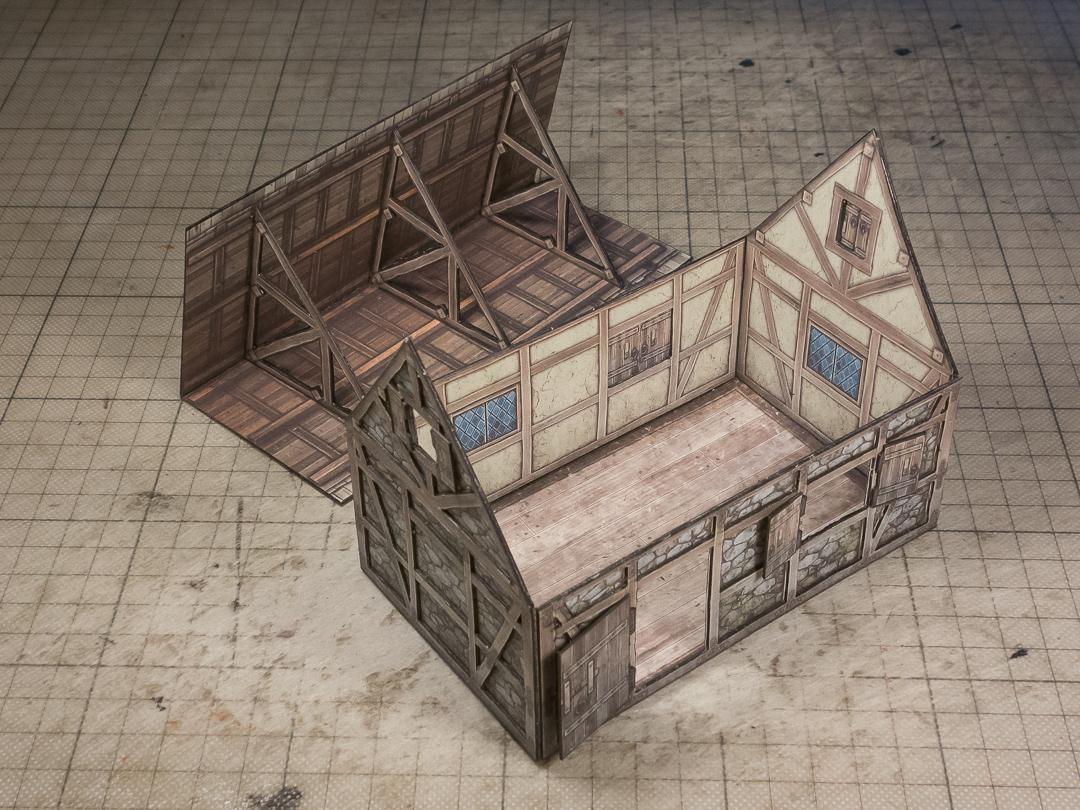 bonus extras roof interior plus open doors and window shutters