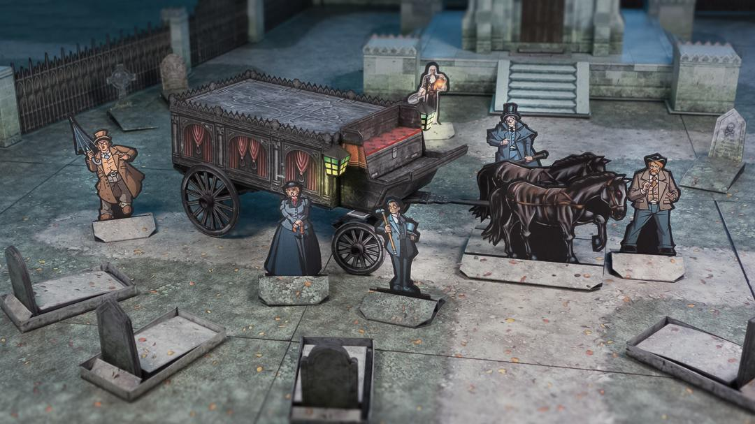 Hearse wagon action