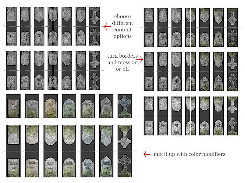 Headstone options (DELUXE)