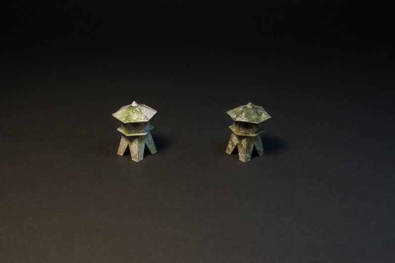 lanterns with moss