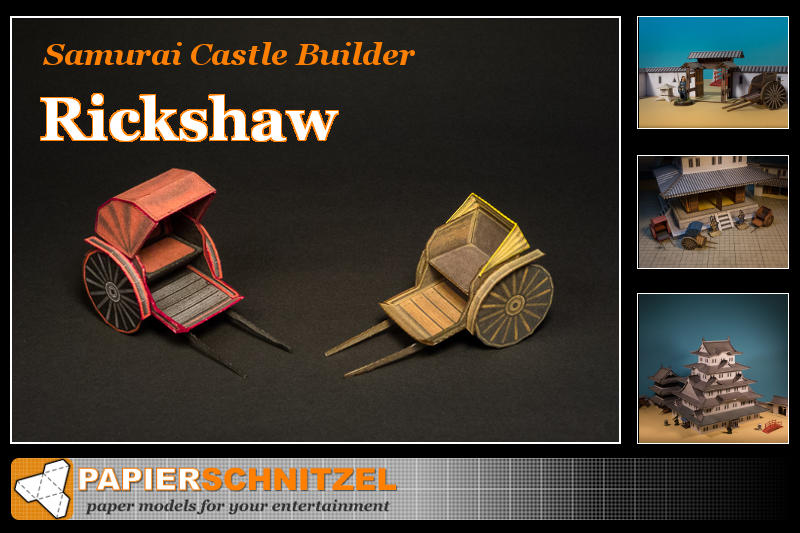 SCB rickshaw paper model promo picture