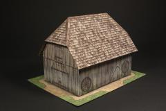 Barn building with ground tile