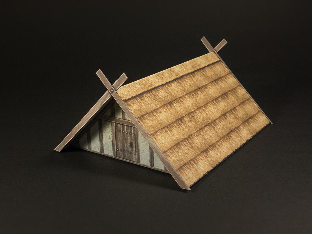 Saxon style A-frame building