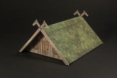 Viking style A-frame building